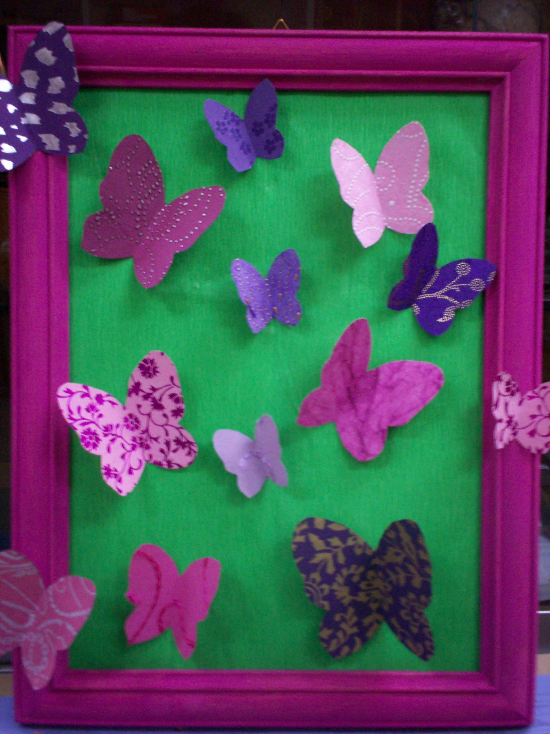 tableau papillons atelier de jenny. Black Bedroom Furniture Sets. Home Design Ideas